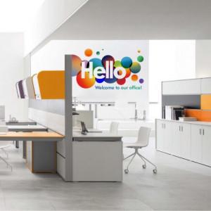 Sticker De Perete Hello Office