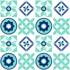 Sticker De Perete Imitatie Faianta Model Mix