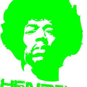 Sticker De Perete Jimi Hendrix