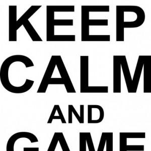 Sticker De Perete Keep Calm And Game On