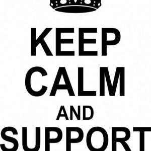 Sticker De Perete Keep Calm And Support Steaua