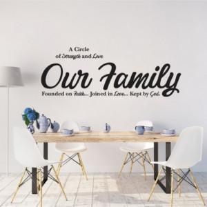 Sticker De Perete Our Family