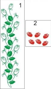 Sticker De Perete Ramura Trandafiri