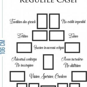 Sticker De Perete Regulile Casei