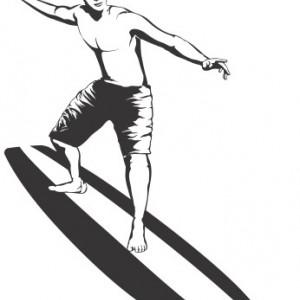 Sticker De Perete Surfing 2