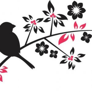 Sticker De Perete Vrabiuta Pe Creanga