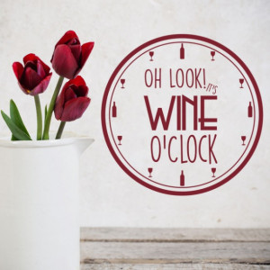 Sticker de Perete Wine O'Clock