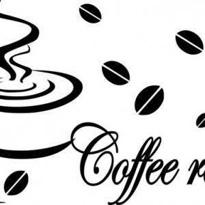 Sticker Decorativ de Perete Coffee Relax 02