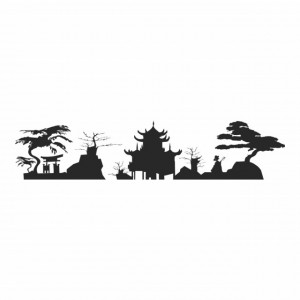 Sticker Japanese Skyline