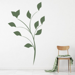 Sticker Simple Floral Flower Leaves