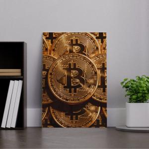 Tablou acrilic - Bitcoin Gold