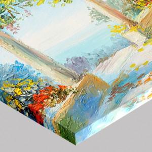Tablou Canvas Efect Pictura Terasa Cu Ghivece