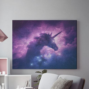 Tablou Canvas Galaxy unicorn