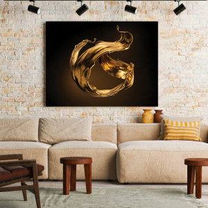 Tablou Canvas Golden Splash