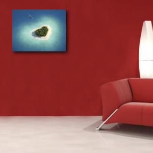 Tablou Canvas - Insula Inima