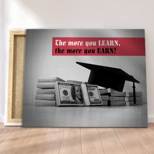 Tablou canvas motivational - The More You Learn