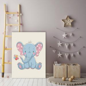 Tablou copii - Elefantel cu floare