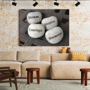 Tablou motivational - Zen stones