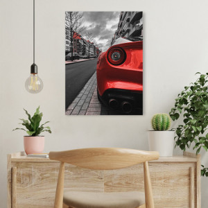 Tablou office - The new red car