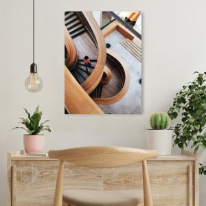 Tablou office - Wooden stairways