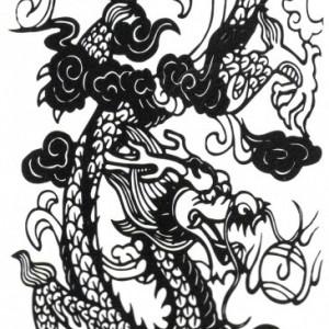 Tatuaj Temporar - Dragon Arts - 17x10cm