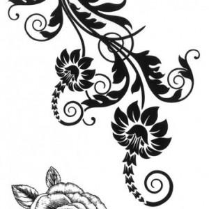 Tatuaj temporar -floare- 10x17cm