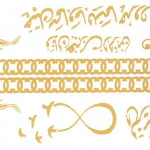 Tatuaj Temporar Pasari Aurii 10x17cm