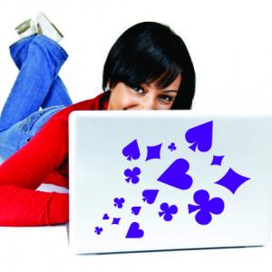 Sticker laptop - poker