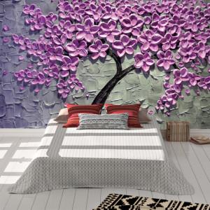 Foto tapet Painted purple tree