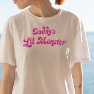 Imprimeu tricou DADDY'S LIL' MONSTER