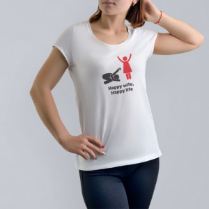 Imprimeu tricou HAPPY WIFE