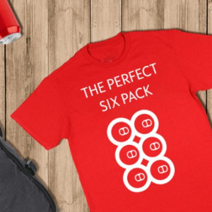 Imprimeu tricou THE PERFECT SIX PACK