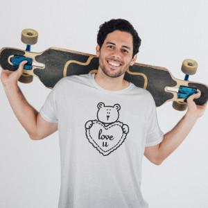Imprimeu tricou URSULET INDRAGOSTIT (EL)