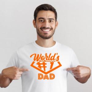 Imprimeu tricou Worlds no 1 dad