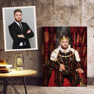 Portret personalizat cu poza ta - King on the throne
