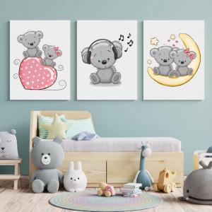 Set Tablouri Copii - Somn usor cu ursuleti