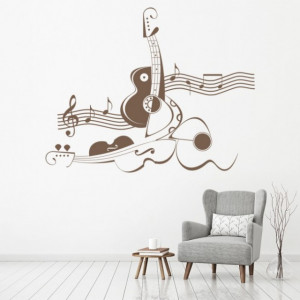 Sticker Abstract Violin Music