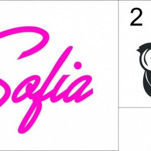 Sticker cu nume - Sofia