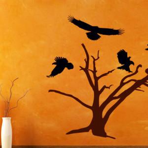 Sticker De Perete 4 Vulturi La Copac