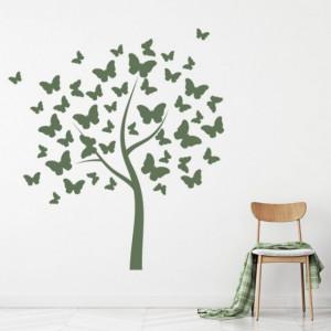 Sticker De Perete Butterfly Tree