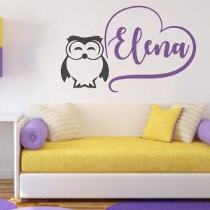 Sticker De Perete Cu Nume - Elena