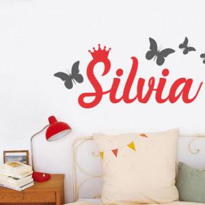 Sticker De Perete Cu Nume - Silvia