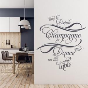 Sticker De Perete Drink Champagne