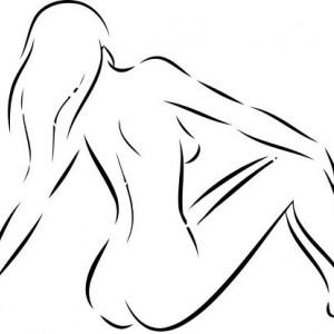 Sticker De Perete Femeie Nud