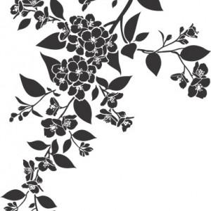 Sticker De Perete Floare De Bucatarie