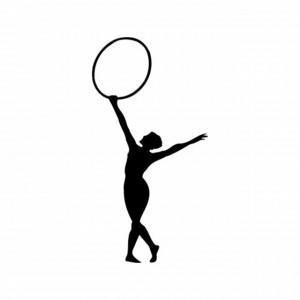 Sticker De Perete Gimnastica Cu Cerc