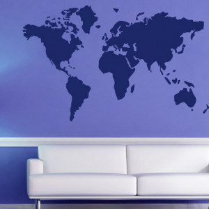Sticker De Perete Harta Lumii