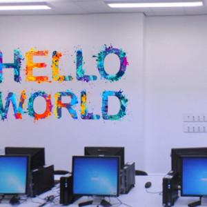 Sticker De Perete Hello World