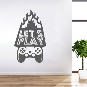 Sticker De Perete Let's Play