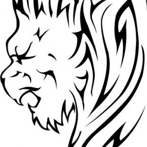 Sticker De Perete Leu Tribal